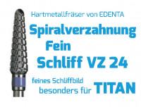 Hartmetallfräser Spiralverzahnung fein VZ 24